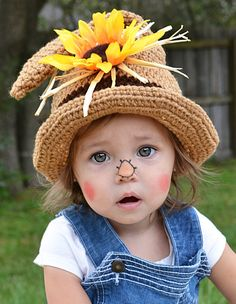 Toddler Scarecrow Hat/ Halloween Costume/ Baby Halloween Hat/ Baby Boy Scarecrow Toddler Scarecrow H