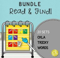 """This is a Read and Find Bundle to practice sight words in a hands-on, engaging way ALL year long! These printable CKLA """"tricky word"""" cards are perfect for pocket charts, word walls, or add to a literacy center.There are TWENTY sets featuring fifty sight words aligned with the CKLA """"tricky words"""" for grades K-1."""