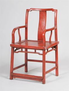 Chinese Red-Painted Armchair  Stair Galleries