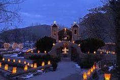 El Santaurio De Chimayo NM   Luminarias During Christmas