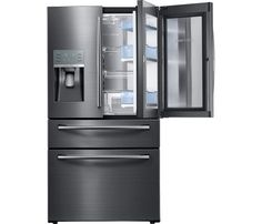 Add Function And Style To Your Kitchen With This Samsung Food Showcase  Four Door French Door Refrigerator In Black Stainless Steel, Counter Depth.