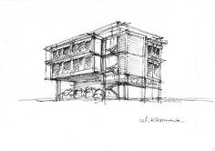Szkic Architektura Warszawa  Projekt  http://www.mkarchitekci.com.pl/