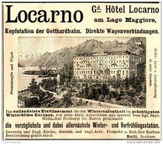Original-Werbung/ Anzeige 1897 - HÔTEL LOCARNO AM LAGO MAGGIORE - ca. 90 x 80 mm