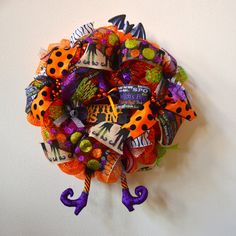 The Witch Is In Deco Mesh Wreath by KreatifDesignsByTina on Etsy