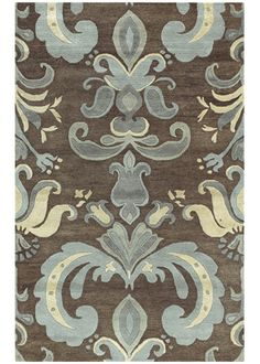 beautiful rug inspired by the fleur de lis