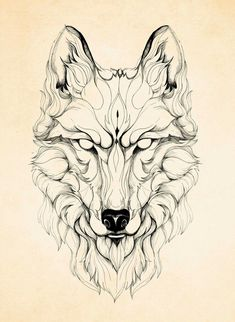 Tattoo design wolf #WolfTattooIdeas