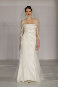 Sleeveless satin bridal gown with zipper back $296.90