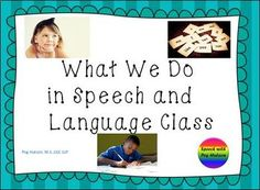 What Do We Do in Speech Posters: Striped Background Parent Teacher Conferences, Striped Background, Language Development, Parents As Teachers, Your Teacher, Speech And Language, Teacher Resources, Open House, Parenting