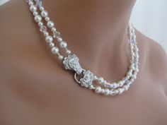 double strand pearl necklace for bridesmaids (for myself, but I'll be wearing gmas)