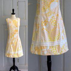1960s Mod Cotton Summer Shift  $48.00