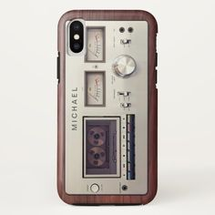 Retro Tech Vintage Stereo Recorder Wooden Cabinet Case-Mate iPhone Case