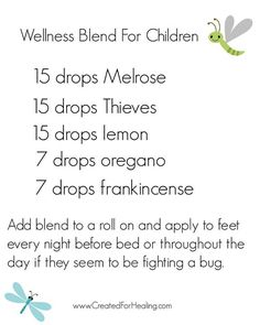 Young Living oil blend for children. fighting a bug