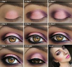 How to Apply Pink/Purple Eyeshadow