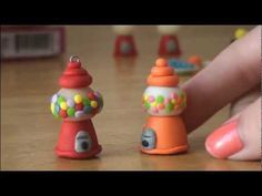 This is such a cute video on how to make a clay gumball machine mini charm.  (she has lots more tutorials) Made these plus more with the kids and they loved it!