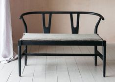 welcoming hallway bench seats with backrests from graham and green, affiliate partner Retro Furniture, Farmhouse Furniture, Unique Furniture, Contemporary Furniture, Industrial Interiors, Vintage Interiors, Hallway Furniture, Home Office Furniture, Hallway Bench Seat