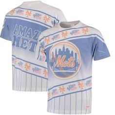 New York Mets Mitchell & Ness Wild Pitch T-Shirt - Royal/White