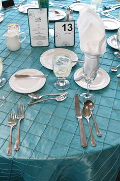 #Tiffany Blue Wedding ... Loved the Tiffany Blue Colors. . .wedding day table setting.