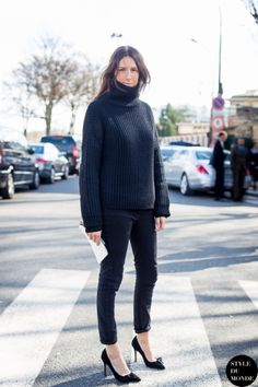 Paris Fashion Week FW 2014 Street Style: Geraldine Saglio