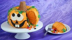 This impressive cake is easy to make with just a couple of Bundt cakes and decoration, you can make your own cute pumpkin pinata reveal cake that has a surprise inside! (For Jules Next Year!)