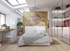 Kleiderschrank im Schlafzimmer mit Schaufenster-Effekt