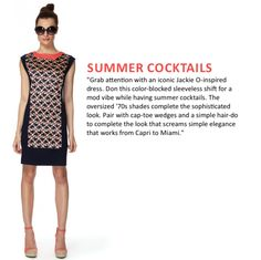 So retro! This stylish color-blocked shift is perfect for summer cocktails. Available at #Target for a limited time only!