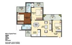 Mahagun Mantra Floor Plan 1200