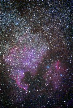 North America Nebula and Pelican Nebula Stretched Canvas