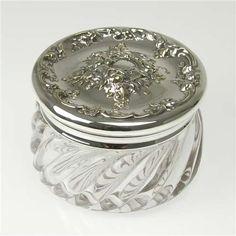 Dresser Jar, Glass Cherub Unknown http://www.amazon.com/dp/B00BC627D4/ref=cm_sw_r_pi_dp_i5D-wb08DV6JR