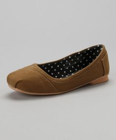 Take a look at this Camel Corduroy Ballet Flat by Shoes of Soul on #zulily today!