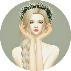 Sims 4 CC's - The Best: Flower Crown by Marigold