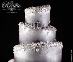 Wedding Cake Inspiration   New Versions of Classic Styles  The Iced Out Cake