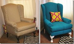 great log of painting upholstered chairs in every way possible
