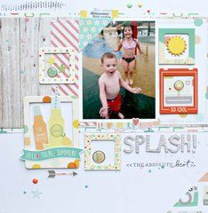 Project Ideas for Simple Stories - Summer Vibes Collection - 12 x 12 Double Sided Paper - Just Beachy
