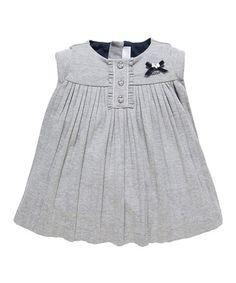 Look at this #zulilyfind! Gray Gathered Babydoll Dress #zulilyfinds
