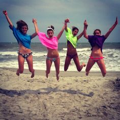 Best Friends at the beach! I can't wait for summer so I hand with my best friends!!