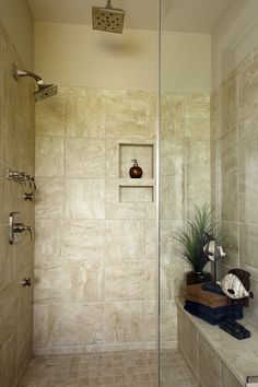 Shower in the St Jude Dream Home 2010. Built by Fischer & Frichtel Homes in St. Louis, MO.