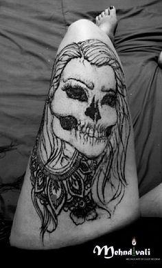 Primero yo, hasta el final. Henna skull tattoo #Henna #mehndi #skull #calaveritas #myself #tradiciones #Aguascalientes #Mexico