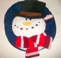Christmas Snowman Holiday Fabric Toilet Seat Cover Bathroom Commode New!