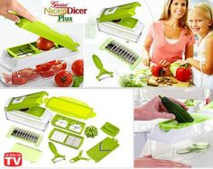 Most people would agree that chopping vegetables prior to cooking is the least enjoyable part of their cooking experience. Whether you're cooking party food or an everyday dinner for your family, spending ours slaving away at your chopping board is a waste of your precious time. That's why you need the As Seen on TV Nicer Dicer Plus.