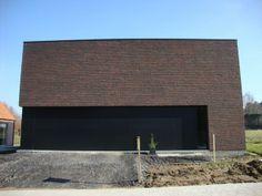 Mooi contrast tussen gevelsteen en muurbekleding