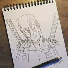 """time to make the chimi fucking changas!!"" #deadpool #wadewilson #marvel #draw #sketch"