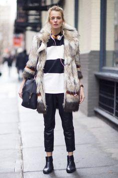 Aprenda a usar o casaco mais cool da estação como uma fashion girl » Fashion Break