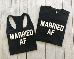 Married AF Duo, married af shirt, funny husband and wife shirt, newlywed shirts, honeymoon shirts, his and her shirts, couples shirts, matching couples shirts