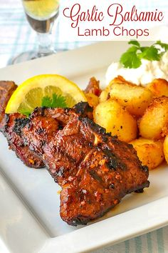 A very simple marinade that pairs very well with the flavour of grilled lamb. Serve with Lemon Herb Roast Potatoes, Lemon Mint Tzatziki and a Greek side salad for an exceptionally delicious meal. Lamb Chop Recipes, Rock Recipes, Chicken Recipes, Lamb Chops Marinade, Grilled Lamb Chops, Marinated Lamb, Grilled Pork, Pork Chops, Herb Roasted Potatoes