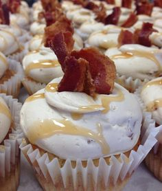 14 Southern Cupcakes You Would Sell Your Children For | Bacon Maple...PERFECT breakfast cupcake!