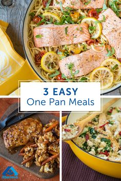 The easiest way to make dinner is with no-mess, convenient one-pan meals. Try these 3 easy one pan recipes for a delicious dinner that's easy to make and requires little to no clean up!