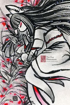 Such Solitude / Kitsune Fox Girl Yokai / Japanese Style Art / 4x6 Fine Art Print Matte Gloss