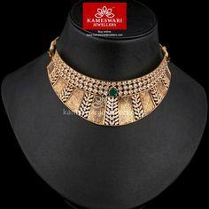 Diamond Choker Necklace, Collar Choker, Choker Necklaces, Chokers, Gold Choker, Cluster Earrings, Necklace Set, Gold Bangles Design, Necklace Online