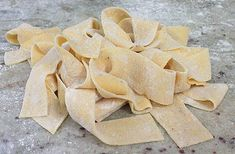 How to make Pasta the Easy Way.  All purpose flour and eggs...