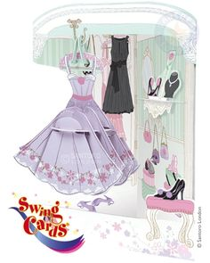 Dress Swing Cards™ Official online Swing cards, pop-up cards, 3D cards, greeting cards from Santoro London